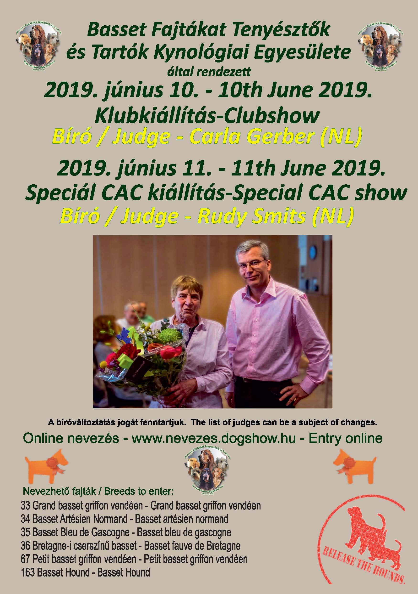 Klub- és Speciál Kiállítás 2019